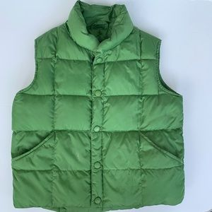 Lands end down vest green boys size 5-6